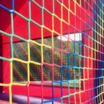 Bright and colorful bouncy house