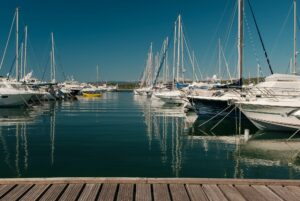 Yachts on the dock
